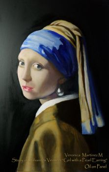 Girl with a Pearl Earring by Veronika-Art