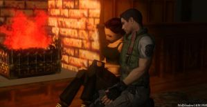 Evening by the fireplace by WolfShadow14081990