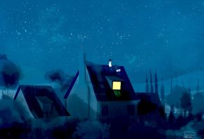 Rooftop kind of night by PascalCampion