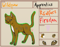 OC- Wildpaw App by glitch-ish