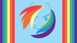 """Rainbow Dash"" Wallpaper by ChaosBolt"