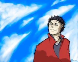 Jason and lamely clouds by Doragon12