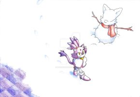 Blaze in the snow (StCO #265 wallpaper) by ThePandamis