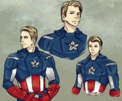 Captain America Doodles by Lady-Was-Taken