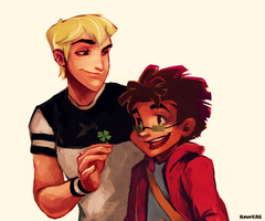 CotT: Neil and Odie by student-yuuto