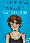 I fell in love the way you fall asleep by incredibru