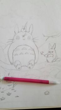 Wip - My Neighbor Totoro by VaporeonDraws