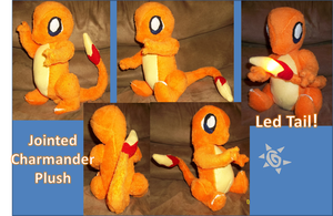 Charmander Plush with light up tail by azumioftreali