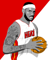 The King Lebron James by Wearwolfclothing