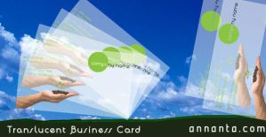 Translucent Business Cards by annanta