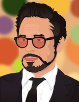 Robert Downey Jr. - Vector Portrait by ThePivotsXXD