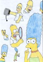 Homer and Marge by bextarooni