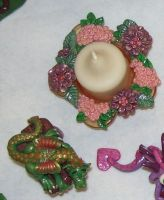 Floral candle holder by ladytech
