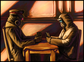 RA : Card Players by Jadeitor