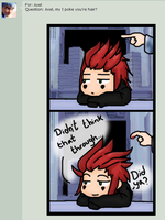 Axel's pokey hair by Highwind-Sniper