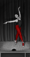 She wore red tights by Macabeak