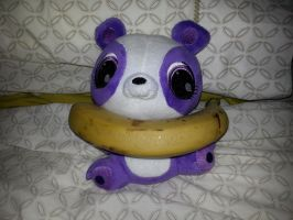 Penny Ling plush with a banana by dev-catscratch