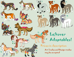 Leftover Adoptable Sheet PRICES REDUCED by TheFoxFeatherz