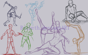 Dynamic Poses: March by Bizbeth