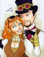 Steampunk Cindy And Max by taeha