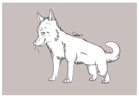 Free Canine Puppy Lineart by Squishy-Pirate-Mutt