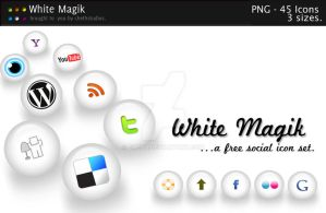 WHITE MAGIK - social icons by cheth