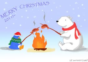 Merry Christmas 2011 e card by LZbrothers
