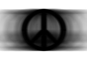 Peace Sign - Digital - Black and White by lyssagal