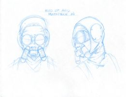 Female Character Masked Concep by Rusty001