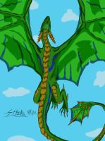 Dragon Flying by ShariMay