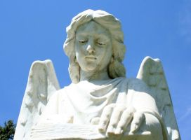 Mount Olivet Cemetery Archangel Uriel 71 by Falln-Stock