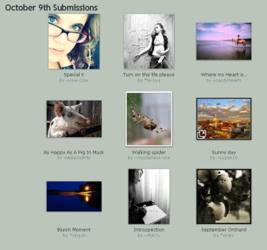 October 9th Submissions by Optimal-Photo