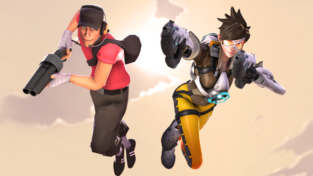 The Scout and Tracer by iKonakona
