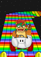 SNES Rainbow Road by galoiran