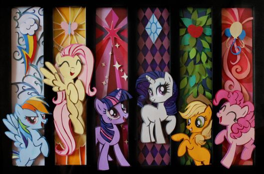 My Little Pony PaperArt - Main 6 by snip-it