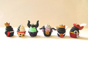Cupcake Charms: Disney Villains by Marielishere