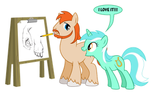 Lyra Likes Sketch's Sketch by JohnRaptor