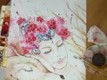 Traditional water color by Estheryu