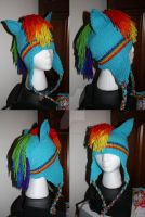 Rainbow Dash Pegasus Pony Hat by itsthekitsunekid