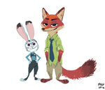 Clever rabbit dumb fox by sketchinthoughts