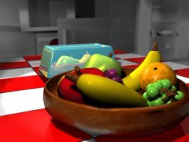 Fruit Bowl Reflective Toaster by BigTippi