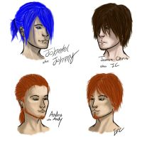 Mortal Instruments OC sketches by Katara-Alchemist