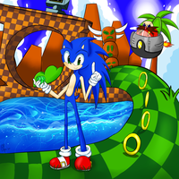 Green Hill Zone by Elya--chan12
