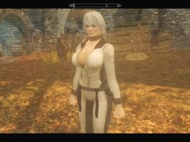 Christie in Skyrim test  W.I.P. by michaelvr4