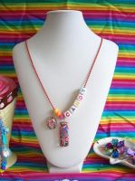 Candy Resin Necklace by lessthan3chrissy