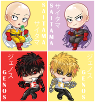 One Punch Man - Keychains 01 by CarmenMCS