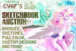 SKETCHBOOK AUCTION OPEN! by cyaf