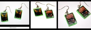 Video Game Earrings- GOW TRIAL by marcieness