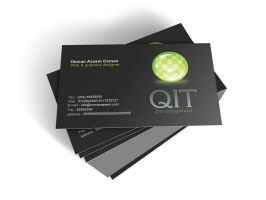 QIT development business card by osmanassem