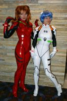 Asuka and Rei - Evangelion: 3 by popecerebus